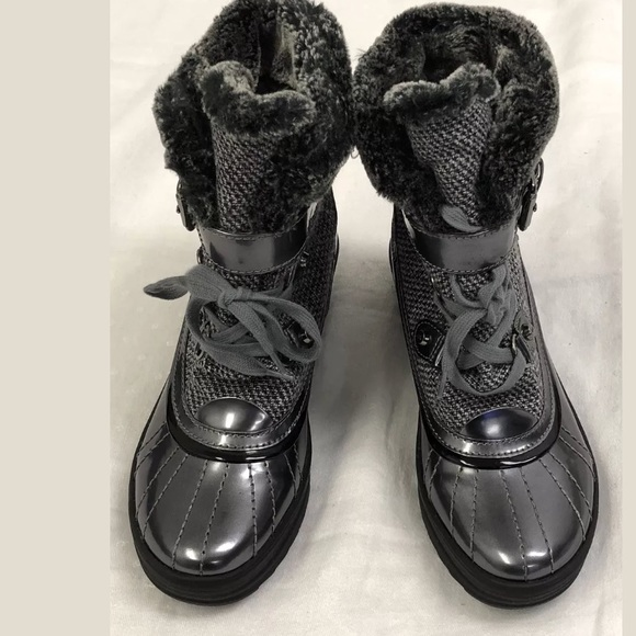 finest selection sale retailer authentic Anne Klein Shoes   Nib Gallup Fabric Snow Boot Gray 8m   Poshmark